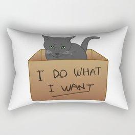 I Do What I Want Rectangular Pillow