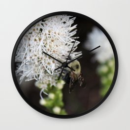 Bee Collecting Pollen 3 Wall Clock