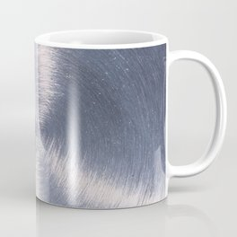 Silver Metallic Stainless Steel Pattern Coffee Mug