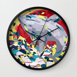 I Whale Always Love you, Whale Breaching by Christie Olstad Wall Clock