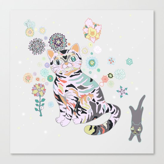 catflowers Canvas Print