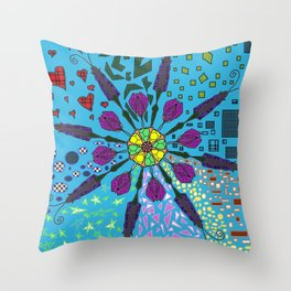 Shaping Art Throw Pillow