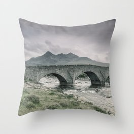 The Bridge and the Cuillin Throw Pillow