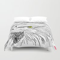 eagle Duvet Covers featuring Eagle by Myles Hunt