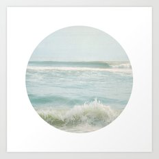 By the Sea ~ Circular Art Print