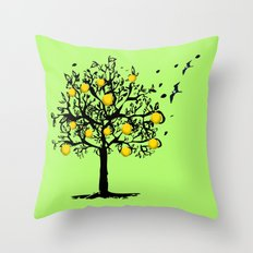 Orange tree Orchard Throw Pillow