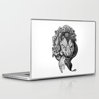 red riding hood Laptop & iPad Skins featuring Riding Hood by FLORA+FAUNA