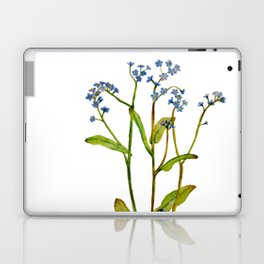 Forget-me-not flowers watercolor art Laptop & iPad Skin