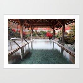 Tranquil onsen Art Print