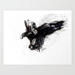 BOBA FETT INKS Art Print