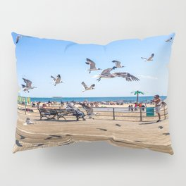 Seagulls of Coney Island Pillow Sham