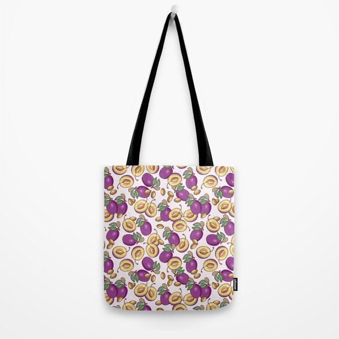 Romantic plum pattern Tote Bag