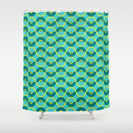 Discos Juju Shower Curtain