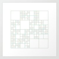 #517 Cracks – Geometry Daily Art Print