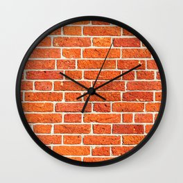 Brick wall patern Wall Clock