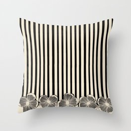 Classic Cream and Black Throw Pillow
