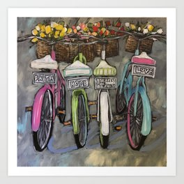 Greatest of These Bikes Art Print