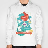 the little mermaid Hoodies featuring Little Mermaid by LindseyCowley