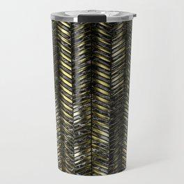 Alien Columns - Black and Gold Travel Mug