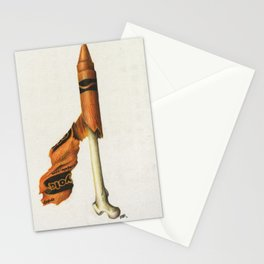 To The Core: Orange Stationery Cards