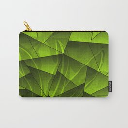 Nature abstract shapes in green gradient Carry-All Pouch