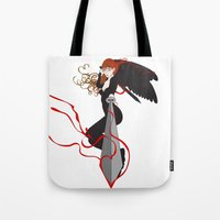 justice league Tote Bags featuring Justice by Stevyn Llewellyn