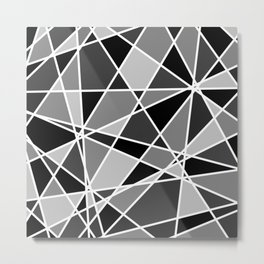 Shattered Charcoal Metal Print