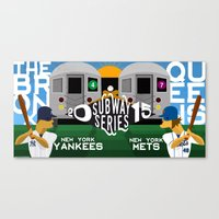 yankees Canvas Prints featuring Subway Series 2015 by Mountain Top Designs