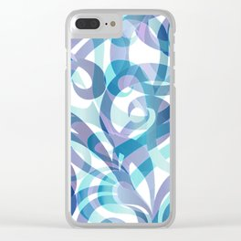 Floral abstract background G21 Clear iPhone Case