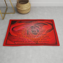 A Beating Heart Lay Resting Rug
