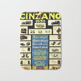 1930 General Italian Merchandise Cinzano Advertising Poster Bath Mat