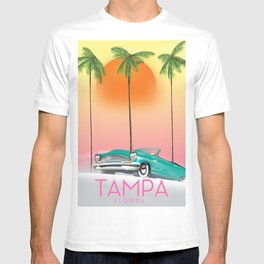 Tampa Florida Travel poster T-shirt