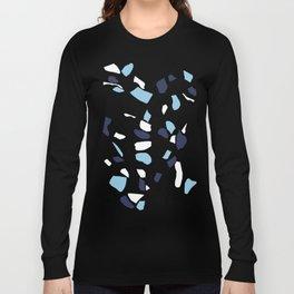 Terrazzo Spot Blues on Blush Long Sleeve T-shirt