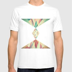 Different Outcomes White Mens Fitted Tee MEDIUM