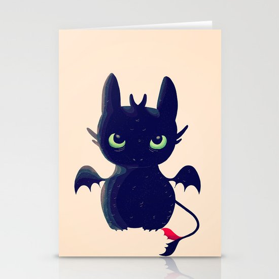 Night Fury Stationery Cards