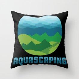 Aquascaping design I Aquarium Fish Tank Gardener Plant Gift Throw Pillow
