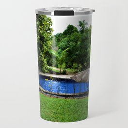 Pool days in the Rain Forest Travel Mug