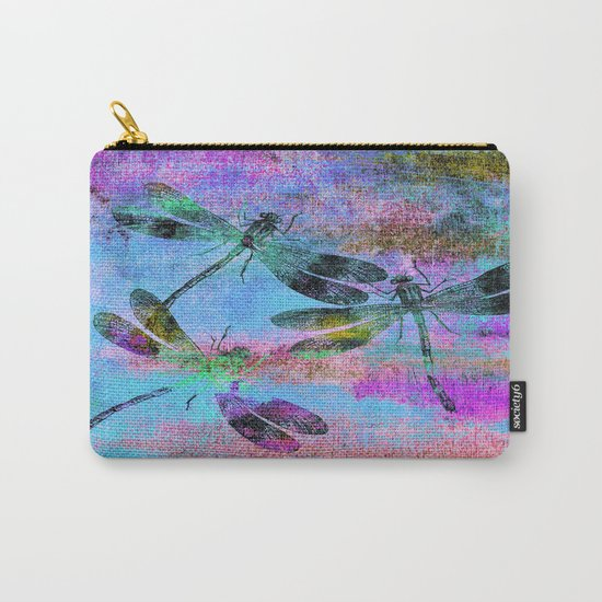 Mauritius Vintage Dragonflies Colours B Carry-All Pouch