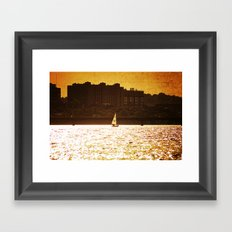 City Backdrop Framed Art Print