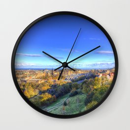 Edinburgh City View Wall Clock