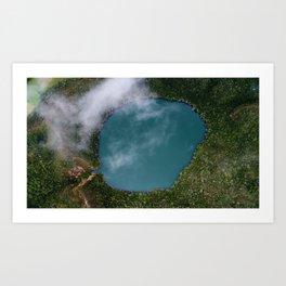 Laguna de Guatavita Art Print