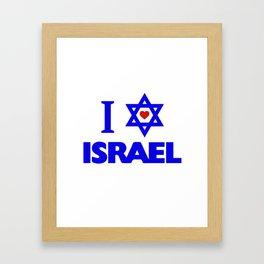 I love Israel Framed Art Print