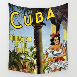 Cuba Holiday Isle in the Tropics 1949 Wall Tapestry