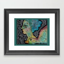 All I have is a voice Framed Art Print