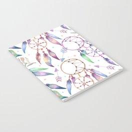 Watercolor Boho Dream Catcher Pattern Notebook