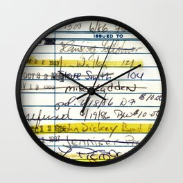 Library Card 5478 The New Atlantis Wall Clock