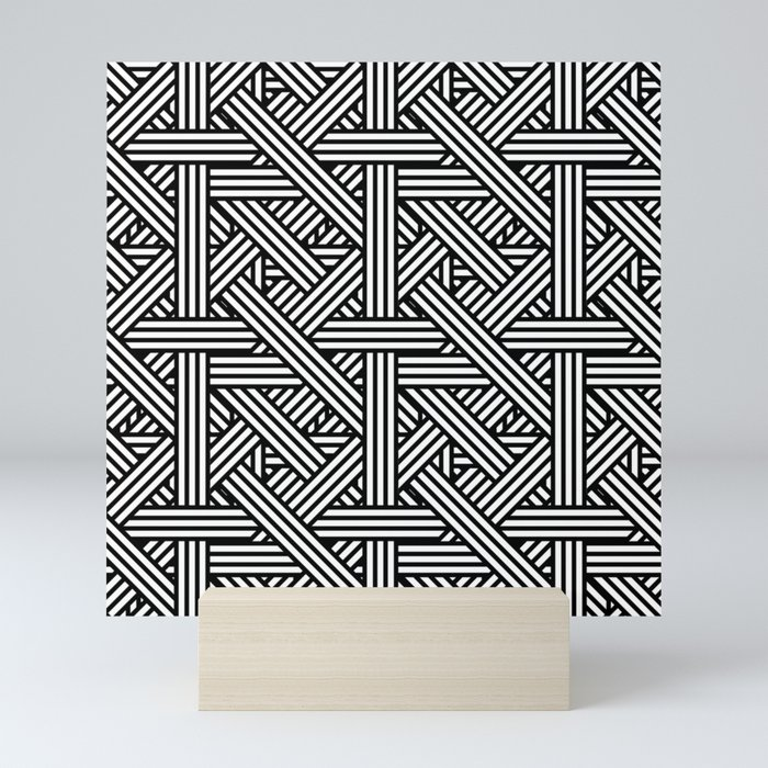 Tilt Stripes Mini Art Print