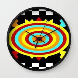 Colorful Darts Wall Clock