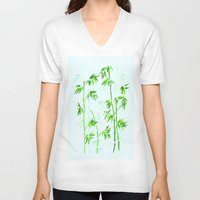 poetry V-neck T-shirts featuring Japanese Poetry by Mivi Saenz on Aqua Expressions