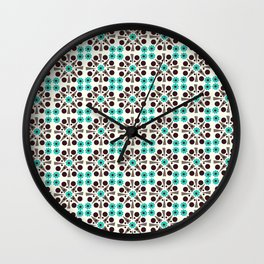 Gem Tiles Turquoise Wall Clock